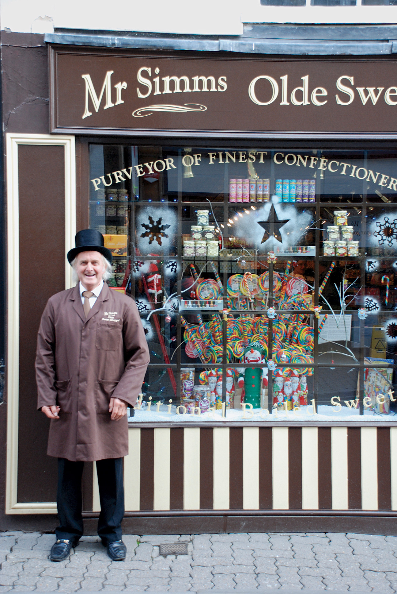 A confectionary shop in Stratford-upon-Avon.