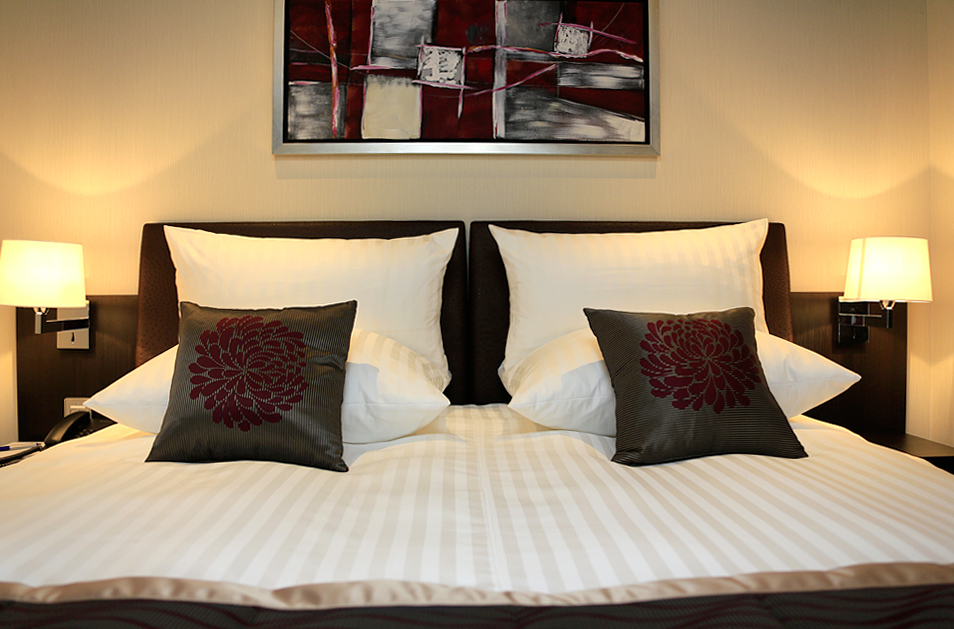 Sleeping accommodations aboard the Artistry II.