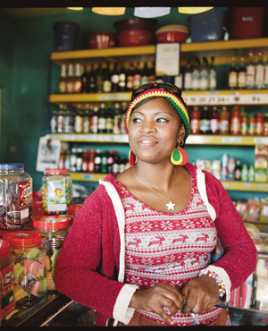 In a village shop inland from Port Mathurin