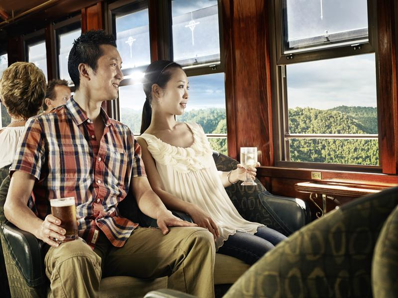 The train carriages are inspired by the Victorian era.