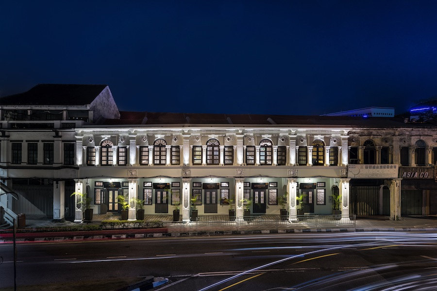 The Residences are housed in five restored shophouses along Penang Street.