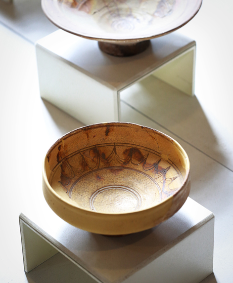 Thracian pottery on display at the Historical Museum in Kazanlak.