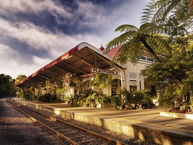 The Kuranda train station.