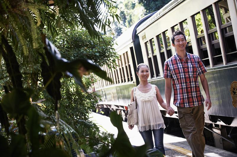 The train tour goes through a World Heritage rain forest.