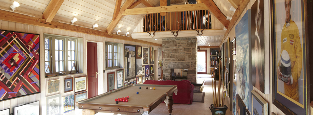 The game room at the Black Cottage—a one bedroom cottage in the lodge area.