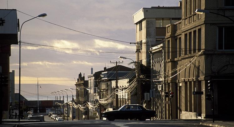 Downtown Punta Arenas, near the Patagonia region.