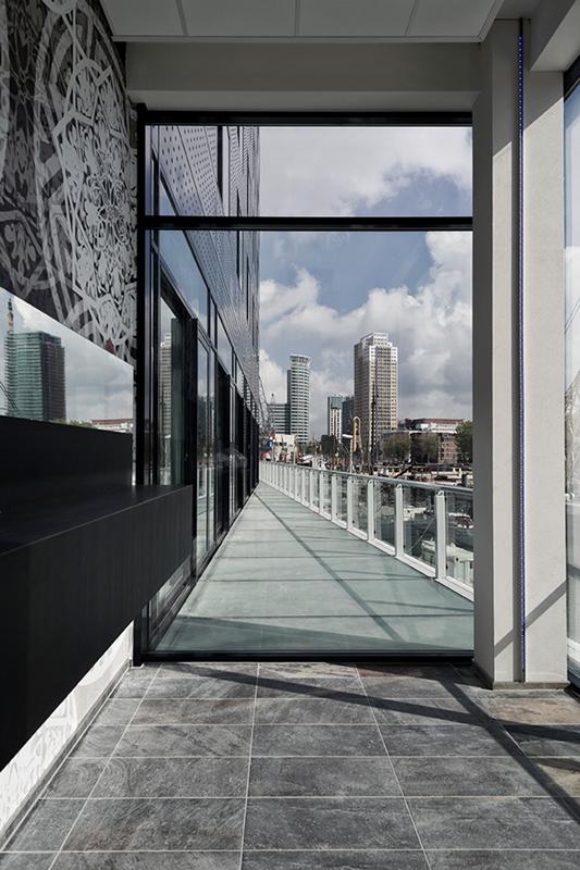 A view onto Rotterdam.