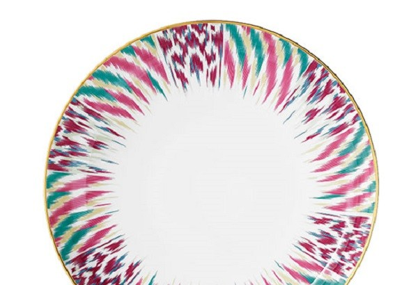Ikat-inspired Tableware from Hermes