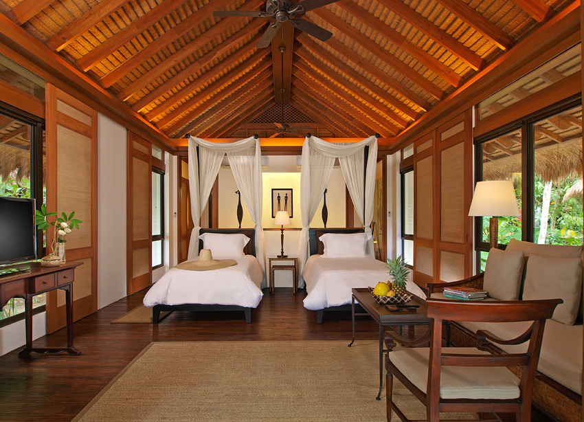 The villas are designed in a contemporary Filipino style.