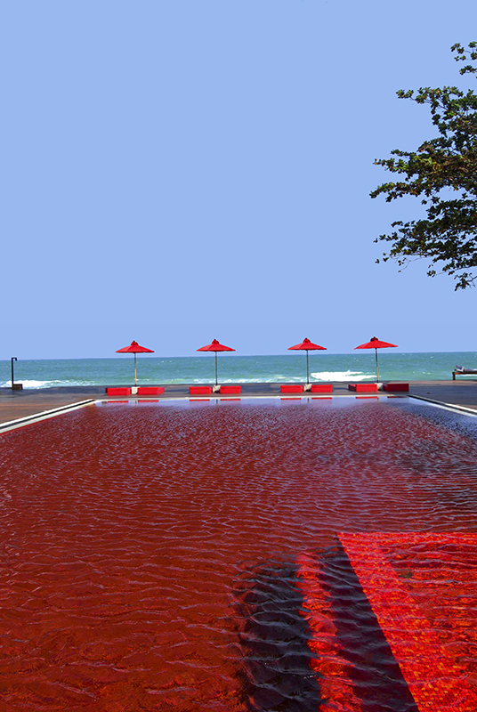 The pool at The Library in Koh Samui.