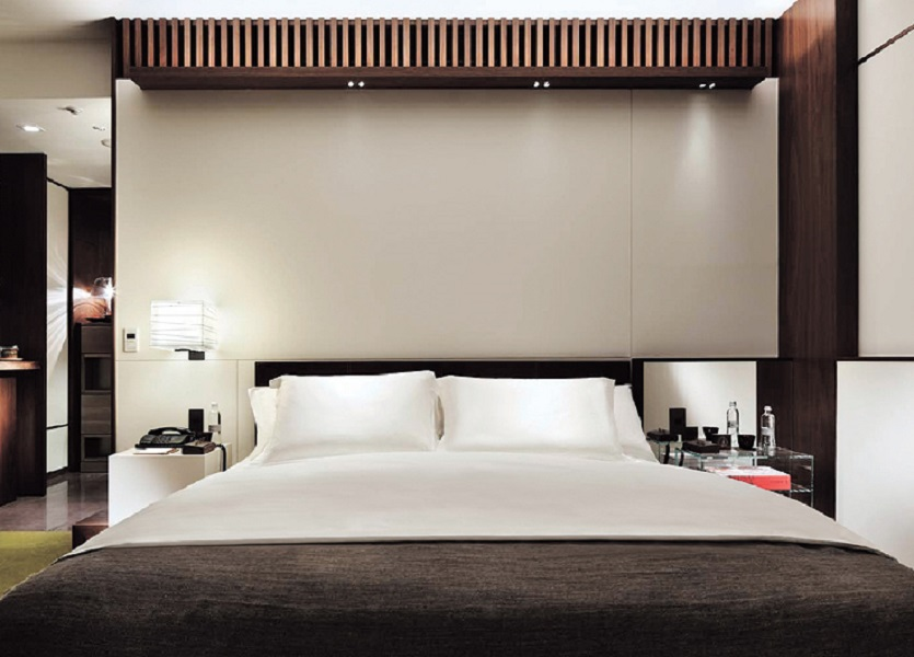 164 rooms and suites offer plush accoutrements and views of the city.