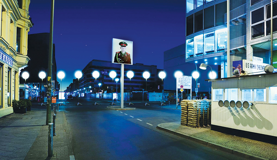 The Lichtgrenze will light up part of the former route of the Berlin Wall.