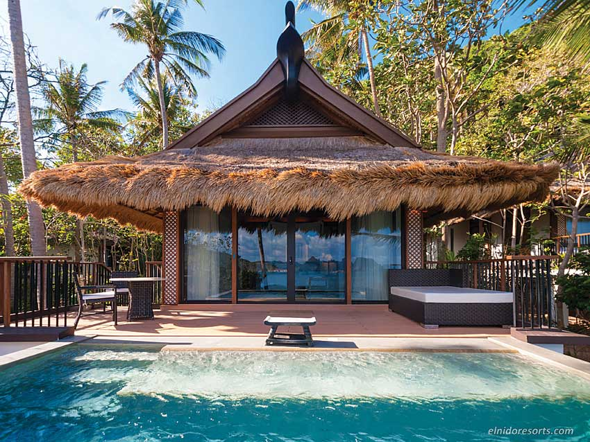 Some of Pangulasian Island's 42 villas feature private pools.