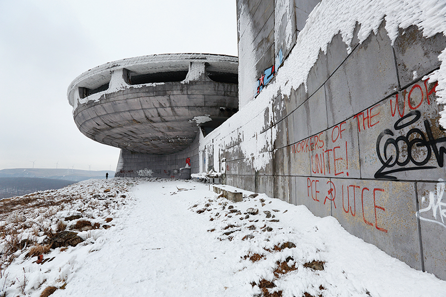 A space-age temple to Bulgarian Communism, the Buzludzha monument has been left derelict since the collapse of the Communist regime in 1989.