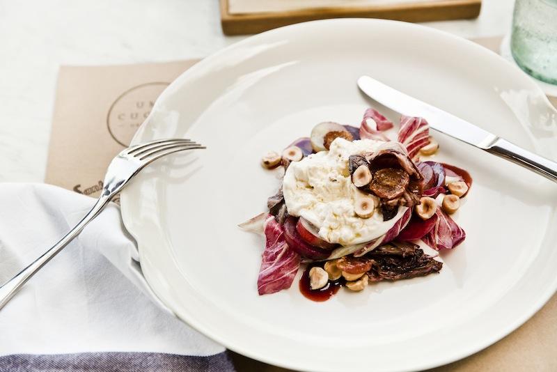 A burrata dish at the new Uma Cucina.