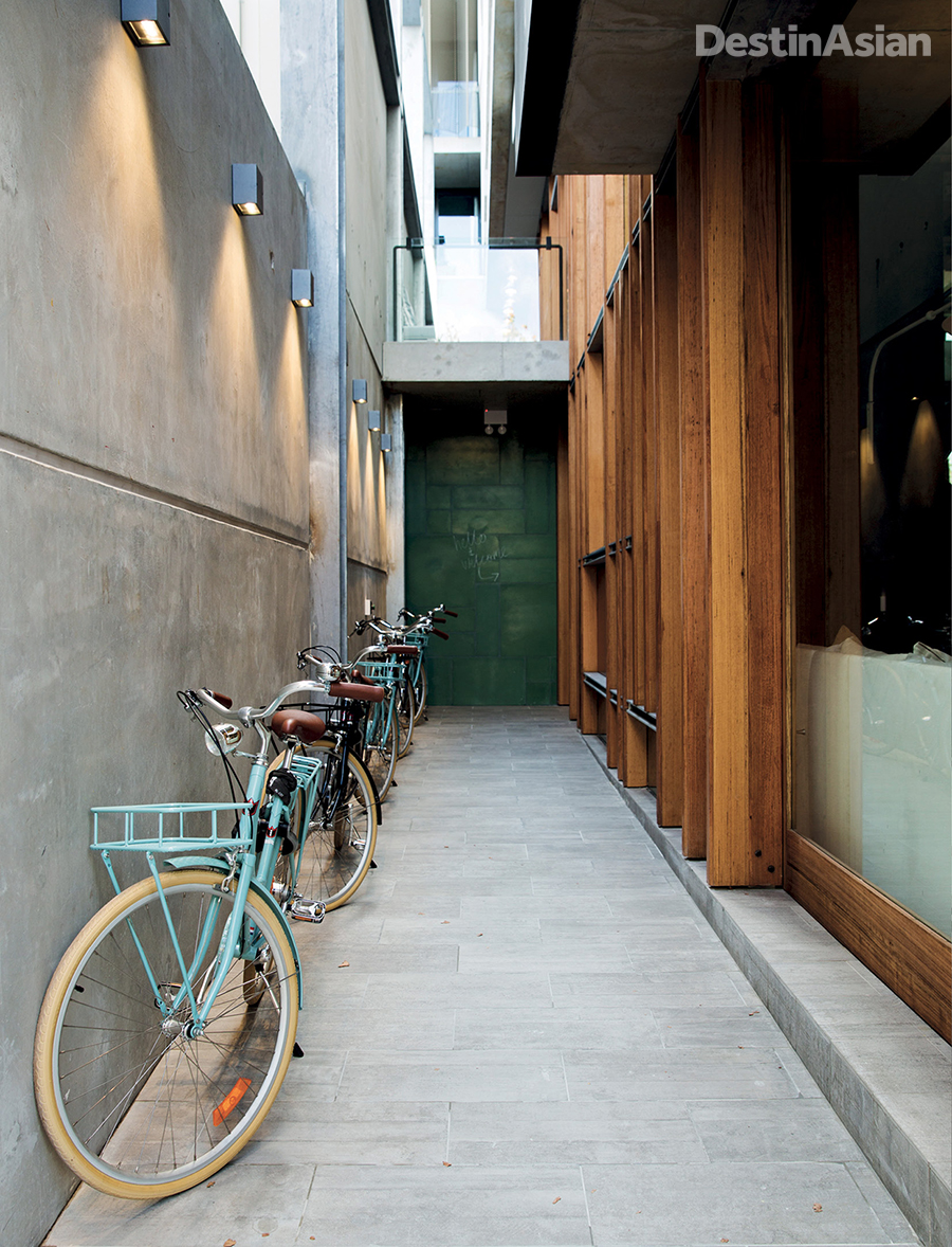 Northbridge's Alex Hotel provides guests with vintage-style bikes to explore the happening neighborhood.