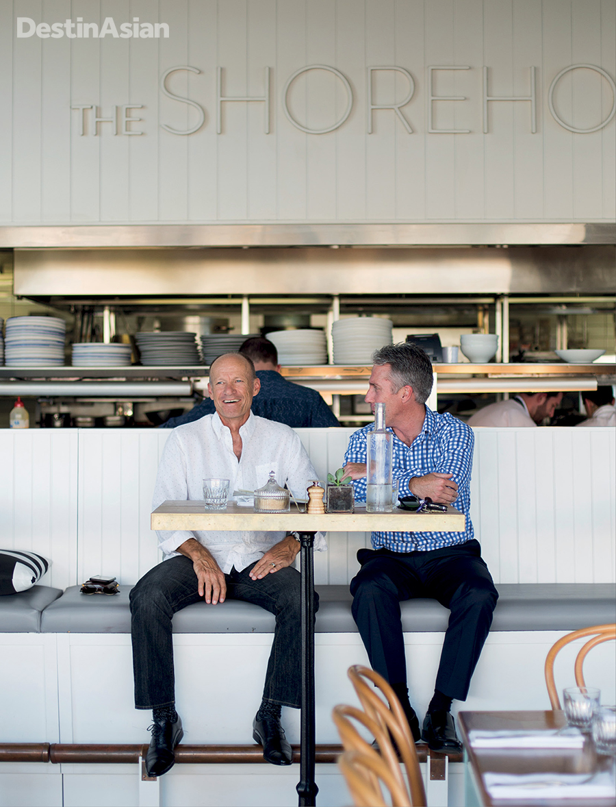 A banquette with a view at The Shorehouse on Swanbourne Beach.