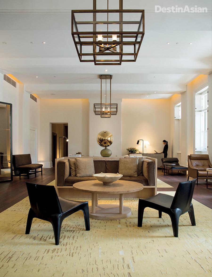 The reception lounge at COMO The Treasury.