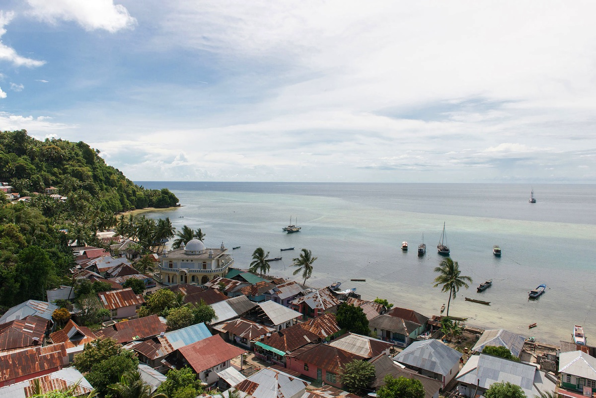 Overlooking the village of Pulau Run,  a tiny island in the Banda chain that was once one of the most hotly contested territories on the planet.