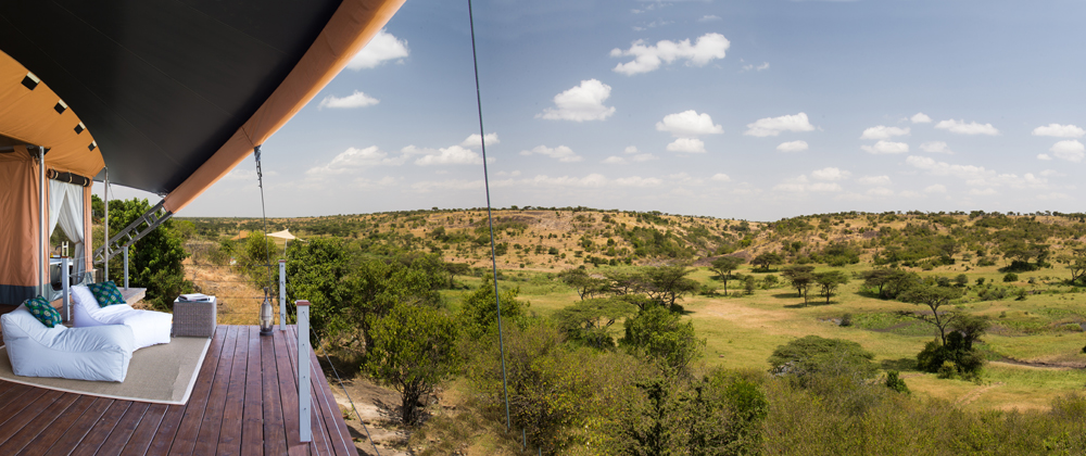 The view from Mahali Mzuri.