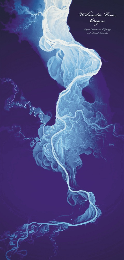 Willamette River, Oregon, 2013, Daniel Coe Printed on paper, 43 x 96.5 cm / 17 x 38 in., private collection