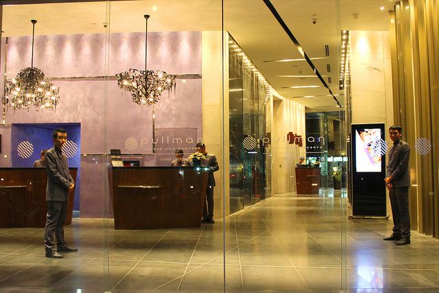 The lobby of the Pullman Saigon.