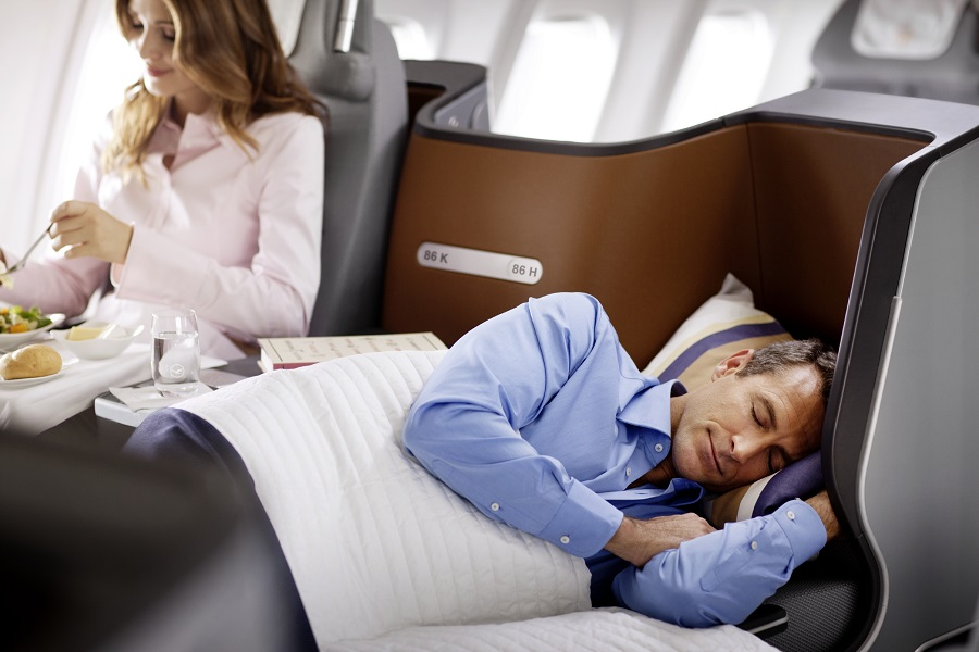 The new business class seats are designed to fully recline.