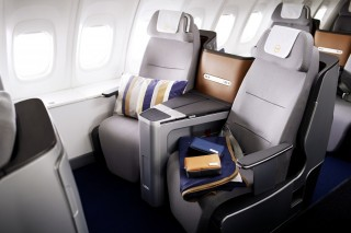 Lufthansa's 747-8 business class seats.