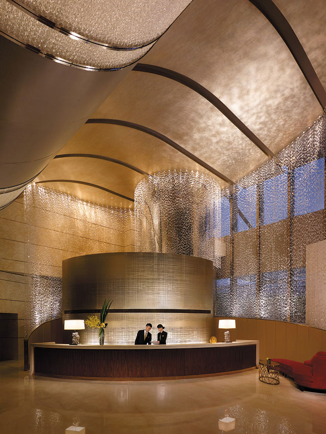 The hotel has more than four million pieces of crystal and 207 artworks by 50 international artists.