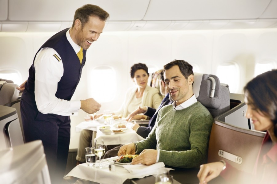 Passengers will have their orders taken by flight attendants upon being welcomed on board.