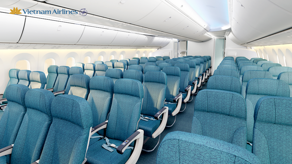 Economy Class on the new B787 will enjoy a larger pitch.