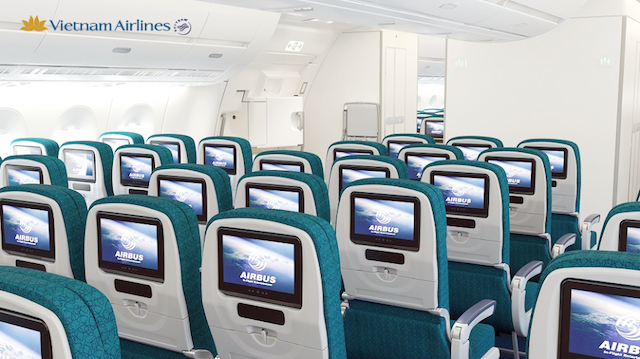 All seats will come with in-seat TVs on the A350.