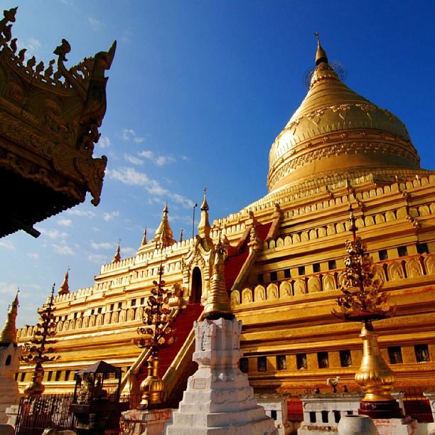 The Shwezigon Pagoda in Mandalay.