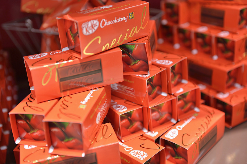 KitKat bars in Chili Chocolate flavor.
