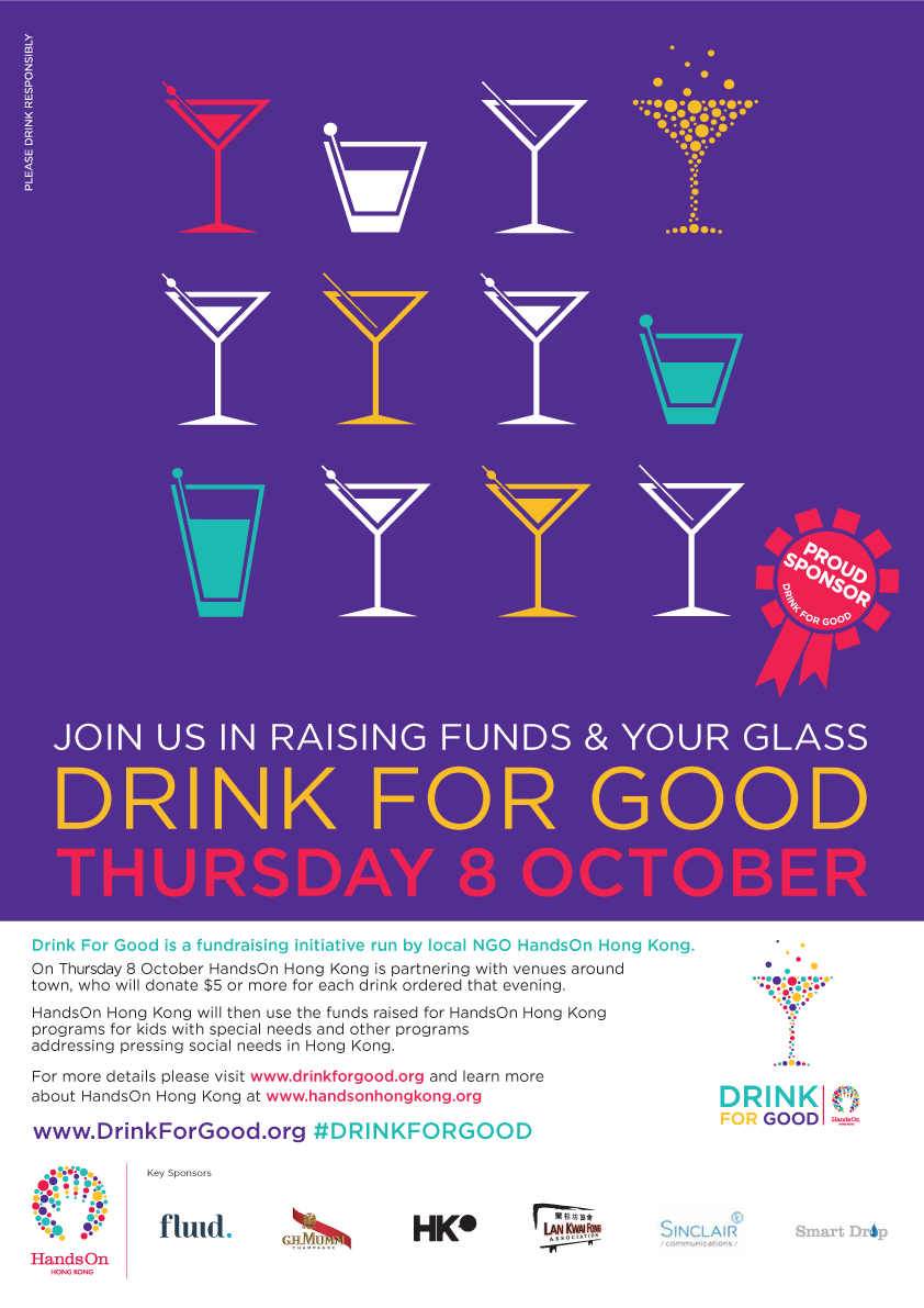 Drink for Good will be held on October 8.
