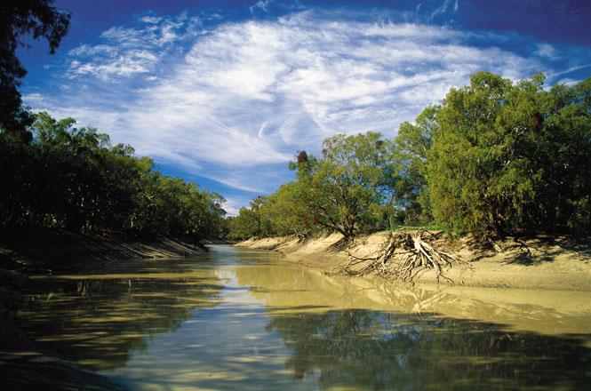 The darling river near kinchega national park.
