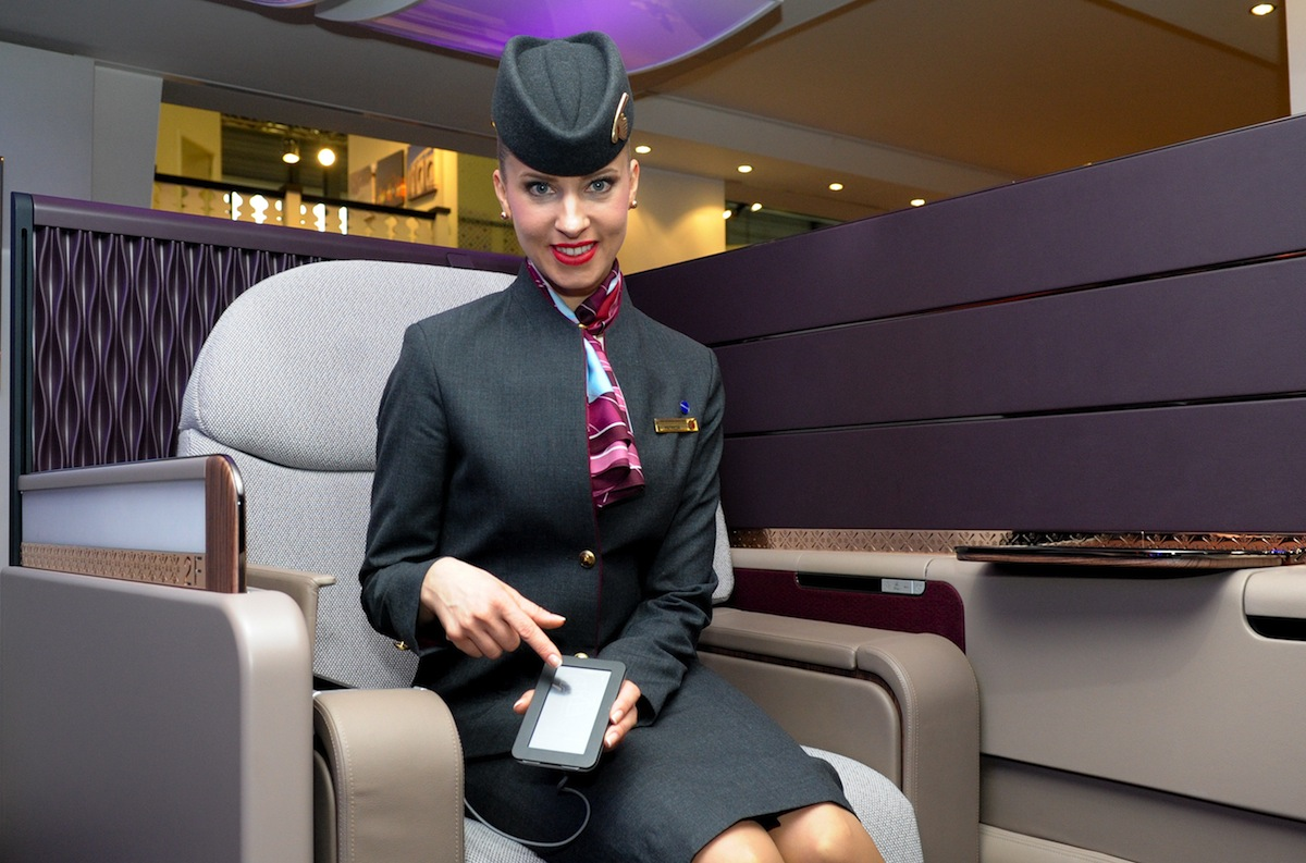Qatar reveals its new First Class seat for its A380 plane.