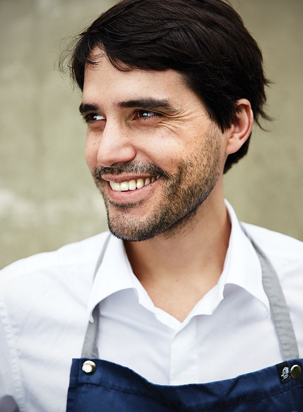 Chef Virgilio Martinez in his garden at his acclaimed restaurant Central.