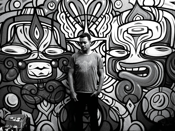 Graffiti artist Phibs.
