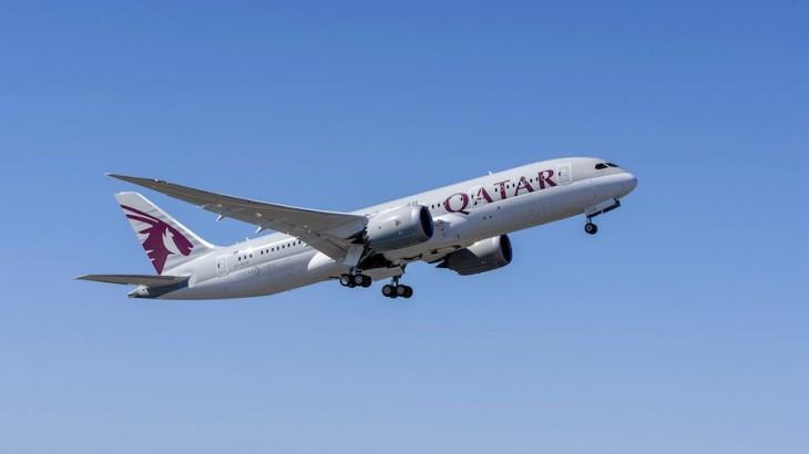 Qatar's Boeing 787-8 Dreamliner.