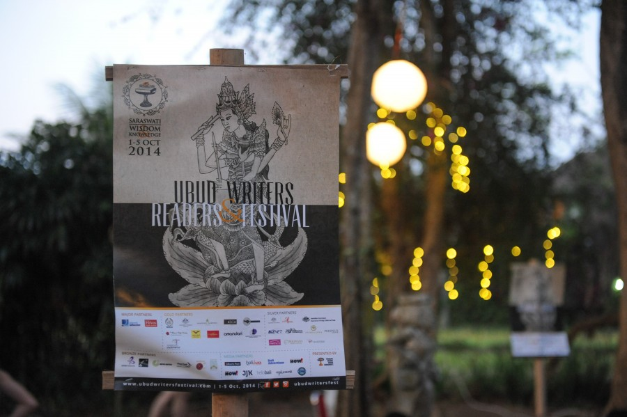 A poster of the Ubud Writers and Readers Festival 2014.
