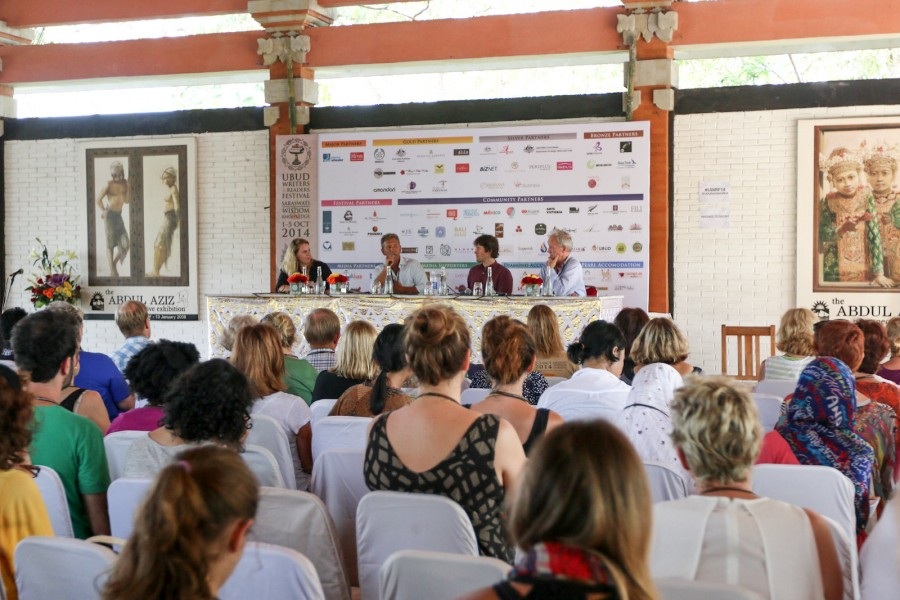 A panel session held at Ubud's Neka Art Museum, one of the festival's main venues.