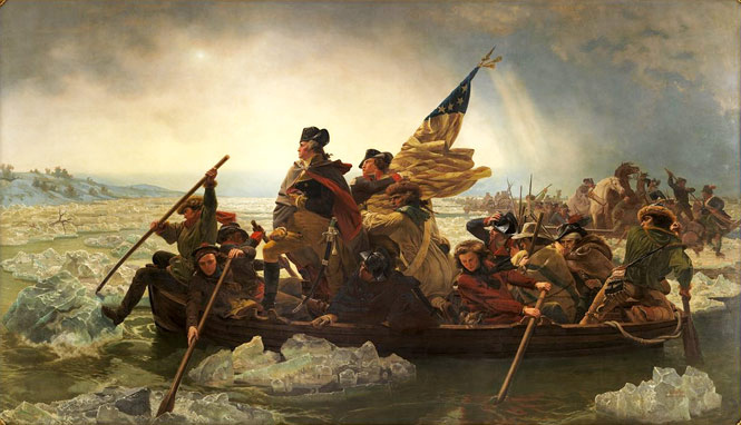 Washington Crossing the Delaware, the centerpiece of the Met's American collection.