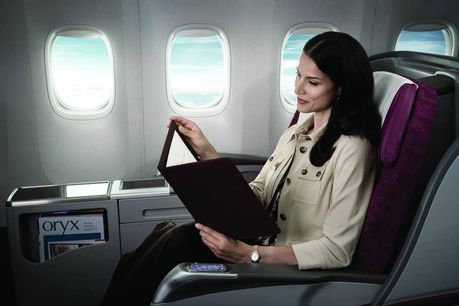 Qatar Airways boasts an award winning wine selection in their business class.