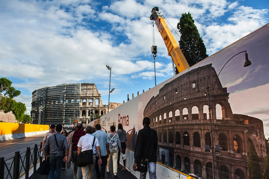 Diego Della Valle, owner of Tod's, has offered to fund the restoration of the Coliseum with 25 million euros in return for brand advertising. Photo by Giorgio Cosulich/Getty Images