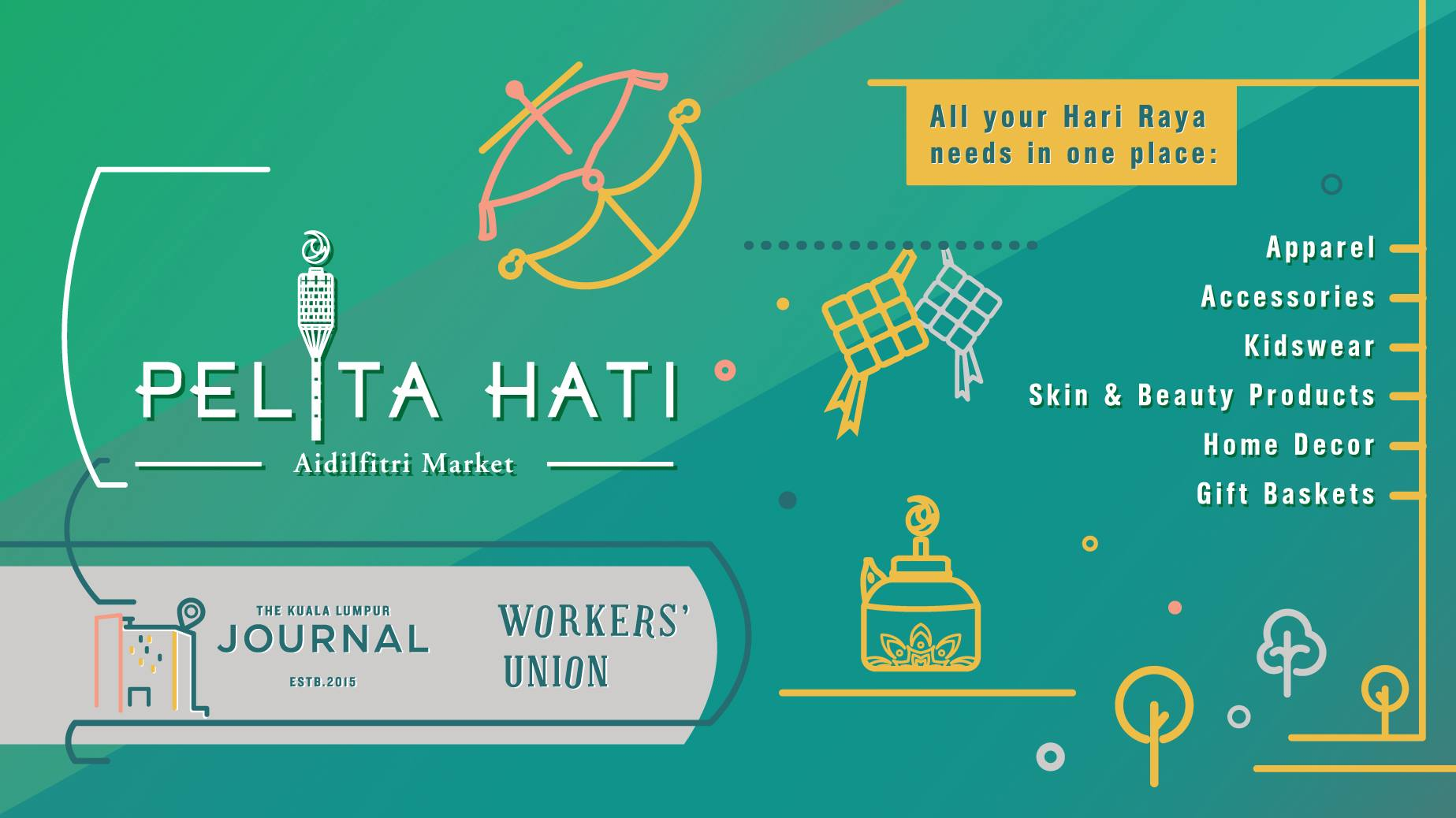 Head over to Pelita Hati Aidilfitri Market this weekend.