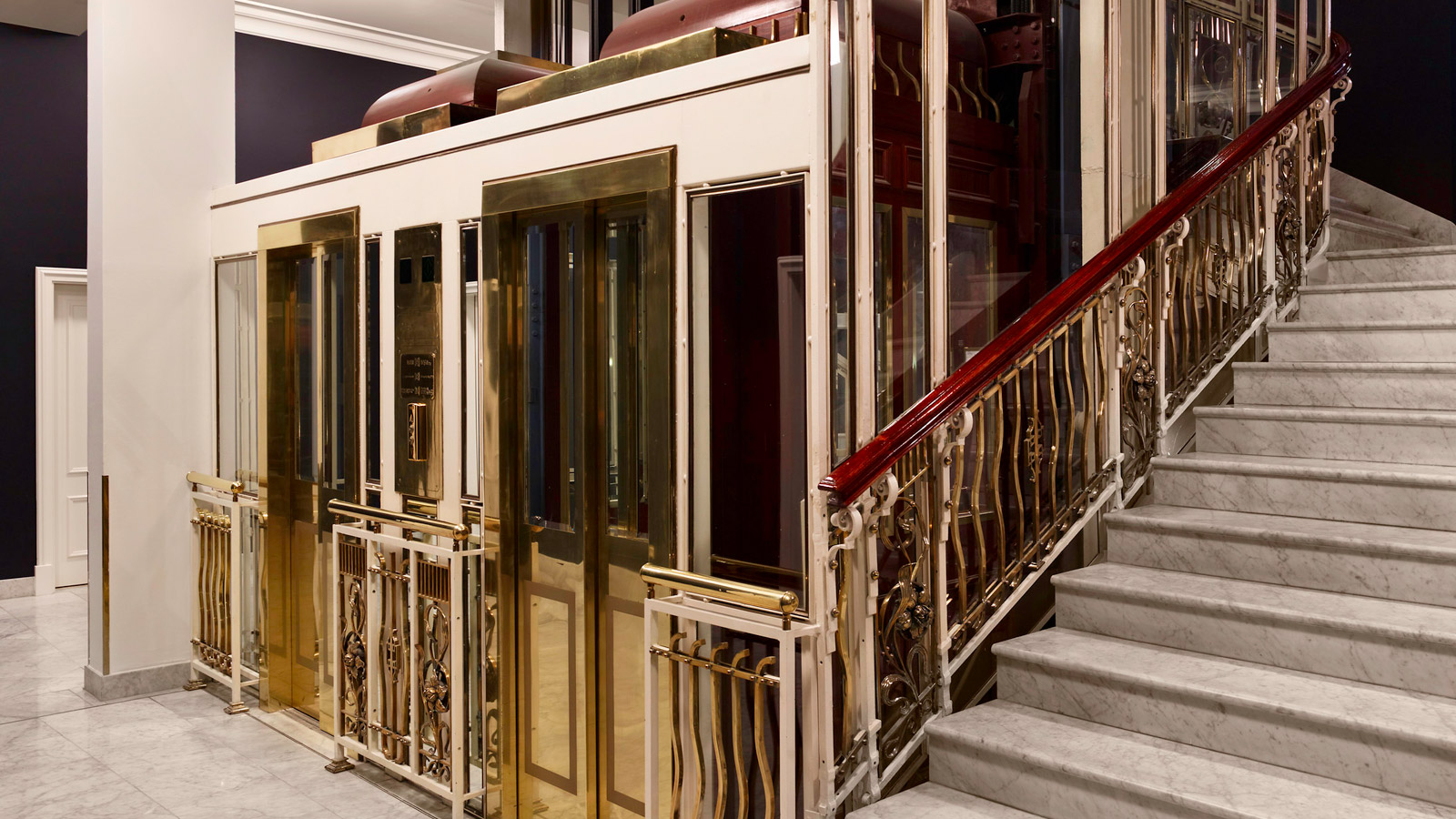 The elevators have been fully renovated to pay tribute to the turn-of-the-century styling.
