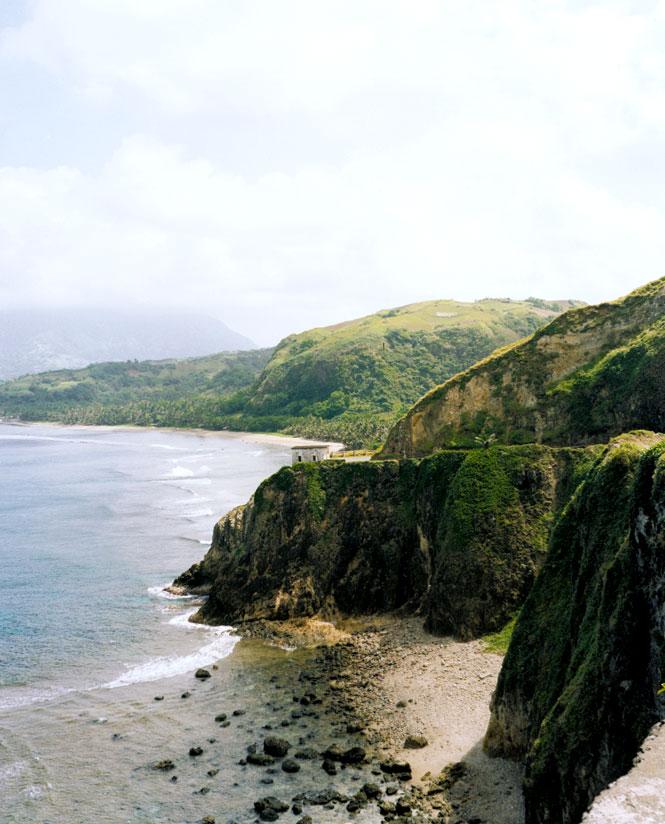 Batan Island's west coast.