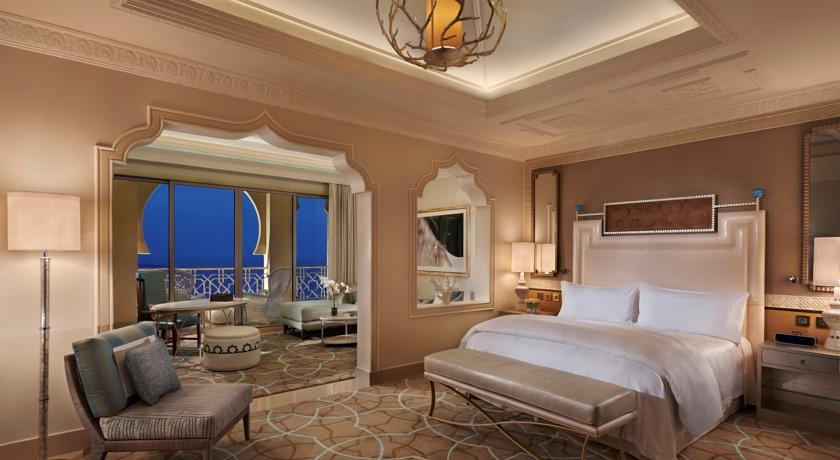 The Waldorf Astoria Ras Al Khaimah features 346 rooms, none smaller than 72 square meters.