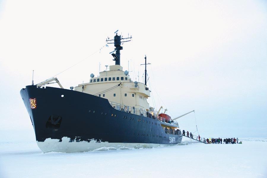 Take a ride through the Bay of Bothnia on the Sampo icebreaker.